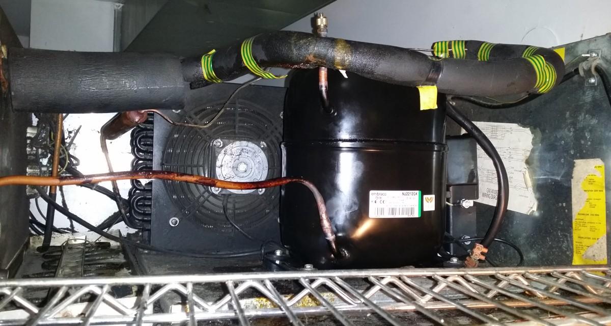 wymiana sprężarki w zamrażarce